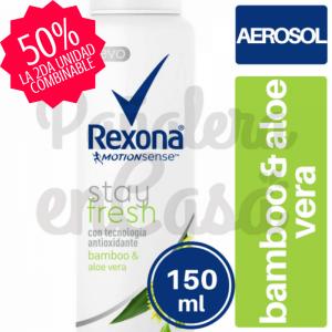 Antitranspirante en Aerosol REXONA Bamboo &; Aloe Vera