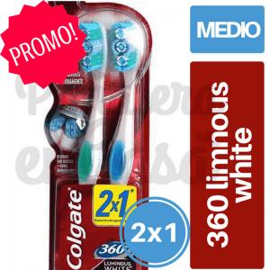 Cepillo Dental COLGATE 360 2x1 Luminous White panaleraencasa