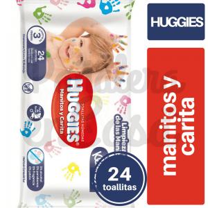 HUGGIES-TOALLITAS-MANITOS Y CARITAS X24