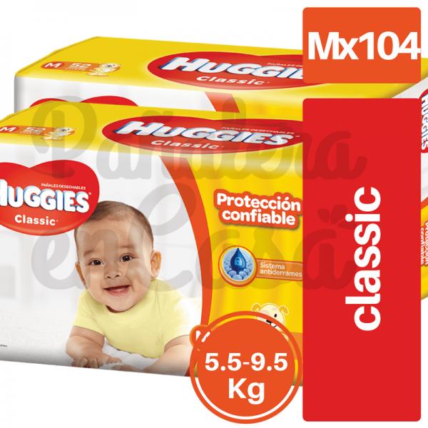 Paquetazo HUGGIES Classic Mx104