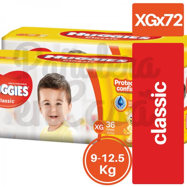 Paquetazo HUGGIES Classic XGx72
