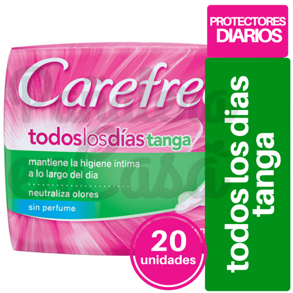 Protectores Diarios CAREFREE todos los días Tanga x20 panaleraencasa