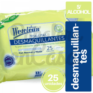 Toallitas Desmaquillantes Wetclean x25