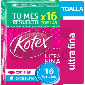 Toallitas KOTEX Ultra Fina x16 panaleraencasa