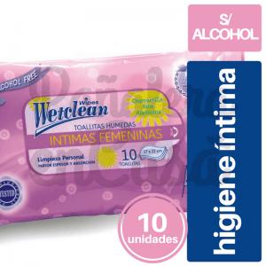 Toallitas de Higiene Íntima Wetclean x10 panaleraencasa